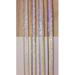 Riley Designs Dichroic Glass - Yellow / Blue Crinkle