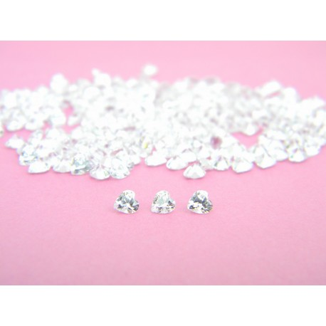 Cubic Zirconia Inclusions - Heart 3mm