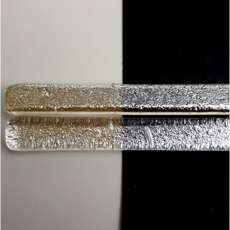 Riley Designs Dichroic Glass - Silver Crinkle