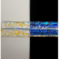 Riley Designs Dichroic Glass - Pink / Teal Crinkle