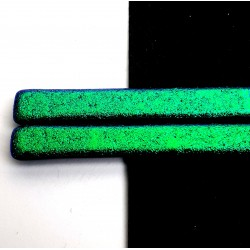 Riley Designs Dichroic Glass - Emerald on Black